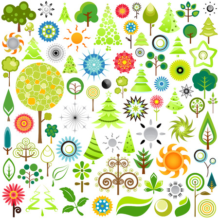 nature icons  Stock Vector - 9060027