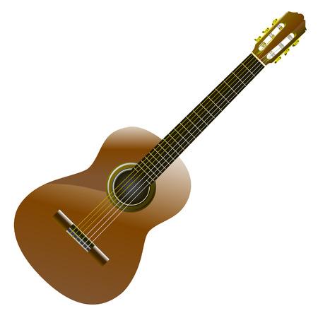 guitarra acustica: guitarra clásica  Vectores