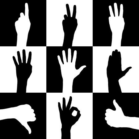 hands  Stock Vector - 9060028