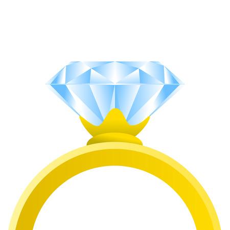 bague de fiancaille: bague de diamant