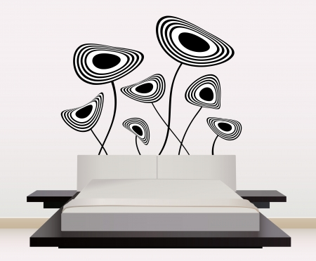 wall art: wall decoration  Illustration