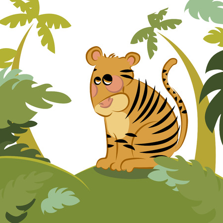 tiger in the jungle  Vector