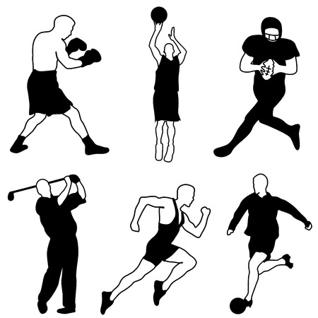 individual sports: sport icon set