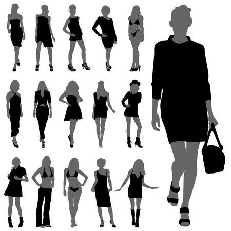Fashion vrouw silhouetten