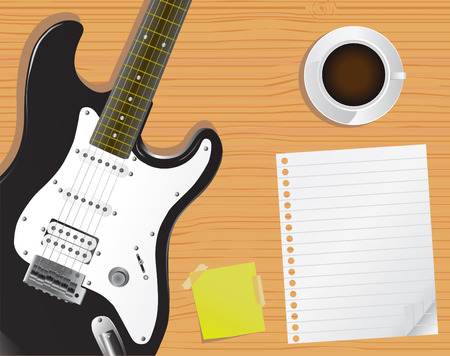page and desk (music concept)  Vector