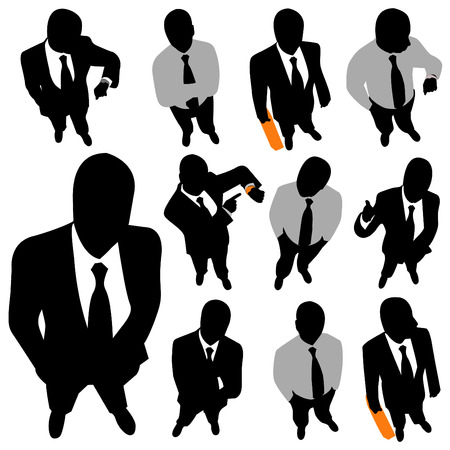 uomo d'affari (veduta dall'alto)