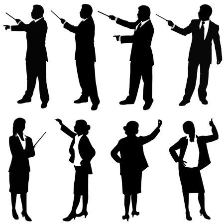 suit case: business people presentation  Illustration