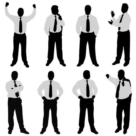 suit case: businessman (different positions)