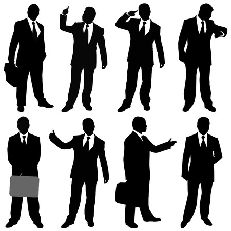 businessman (different positions)  Vector
