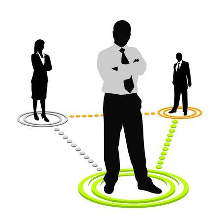 gran angular: equipo de negocios