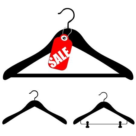 Hangers met verkoop  Vector Illustratie