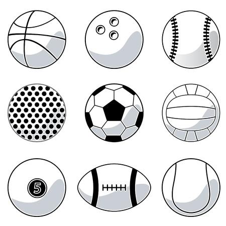 billiard balls: sport balls