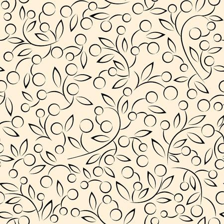 tiled: floral pattern vector