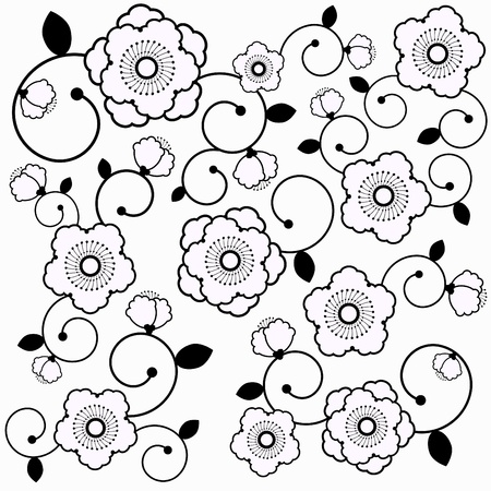 floral pattern vector  Vector