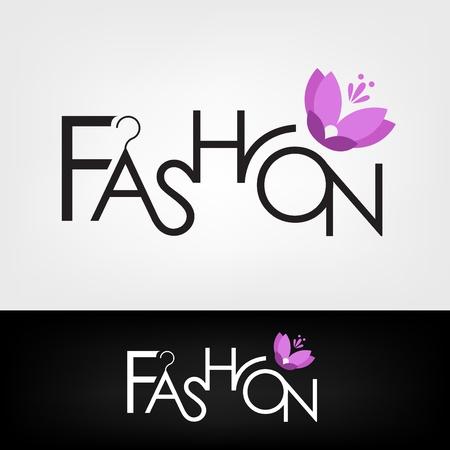 typo: fashion design  Illustration