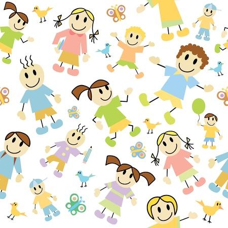 dance school: kids pattern