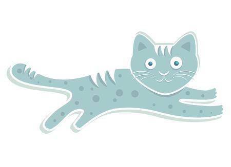 blue cute cat  Vector