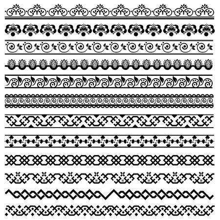 ornamental borders: border decoration design elements