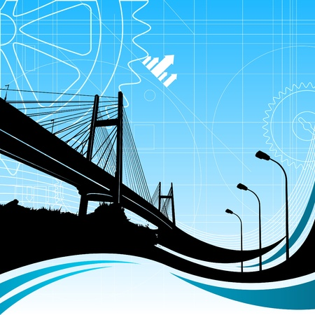 bridges: urban city vector  Illustration