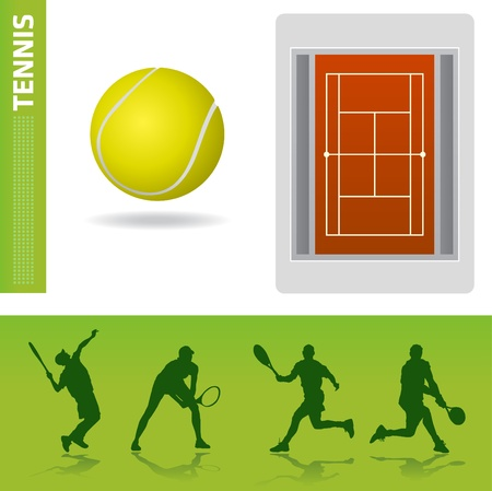 tennis serve: tennis design elements