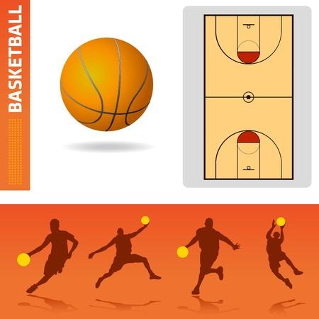basketball design elements Stock Vector - 9148420