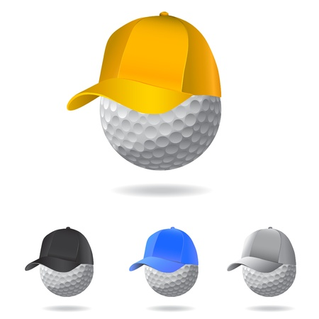 golf cap: golf mascot