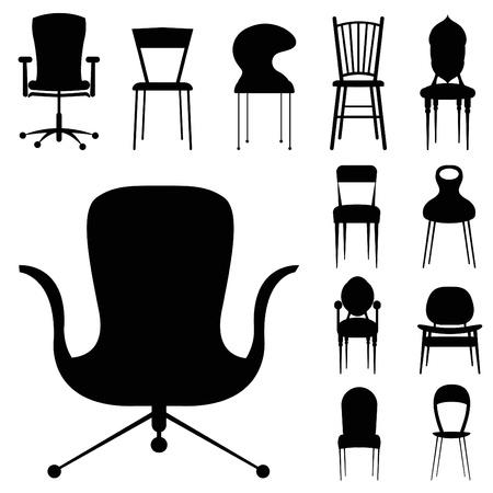 chair design set  Vector