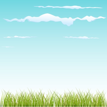 grass and sky  Stock Vector - 9148437