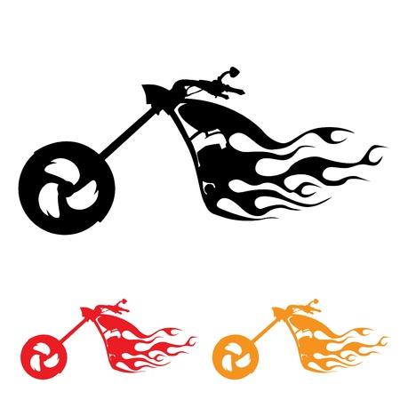 silueta moto: s�mbolo de la motocicleta