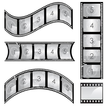filmnegativ:  Film-Seitenleisten-Satz