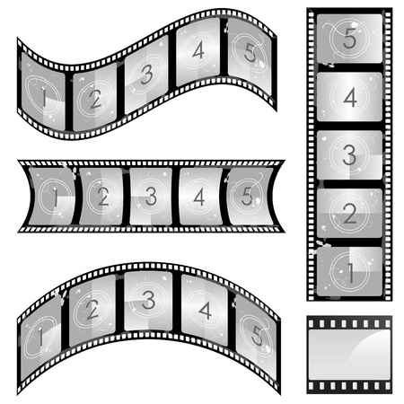 film negative:  film strip set