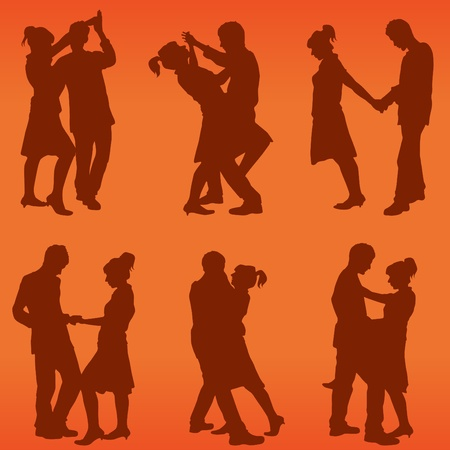 couple dance vector  Stock Vector - 9148415