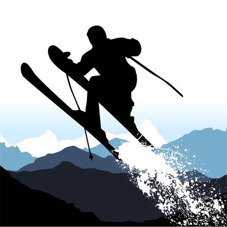 vector ski Stock Vector - 9148445