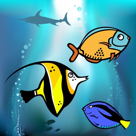 fish graphic vector Stock Vector - 9148476
