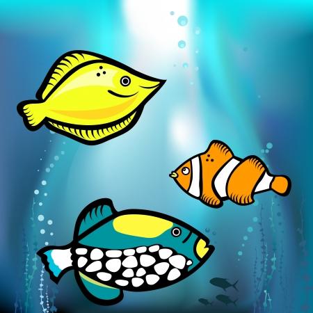 fish graphic vector Vector