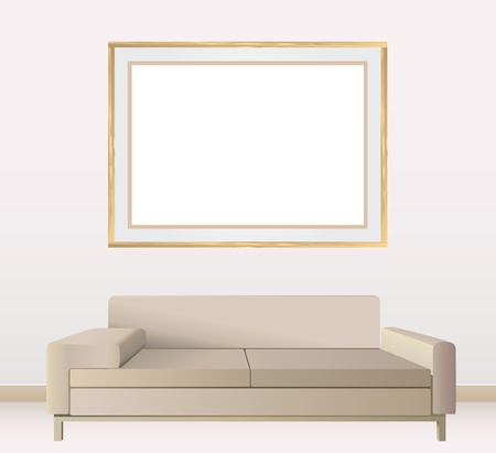 empty frames on wall vector Vector