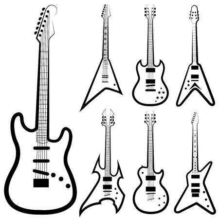 drawing instrument: guitar set  Illustration