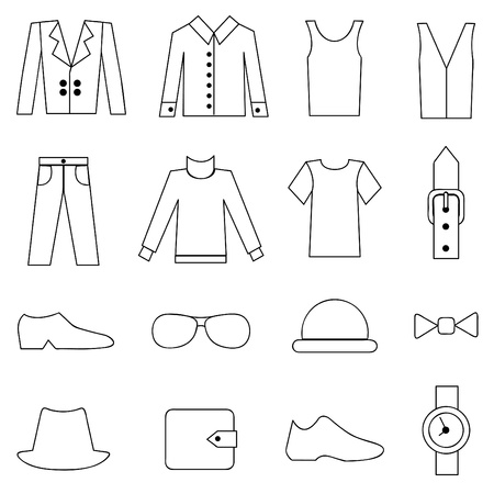 男のファッションと服のアイコン