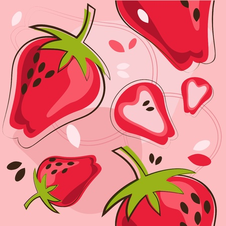 freshly: strawberry Illustration