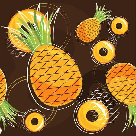 pineapple slice: pattern of pineapple