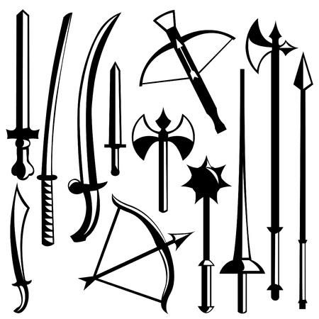sabel: zwaard set  Stock Illustratie