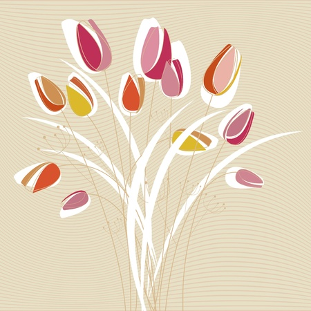 abstract tulip design Stock Vector - 9196318