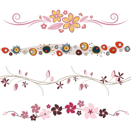 floral design elements Stock Vector - 9196364