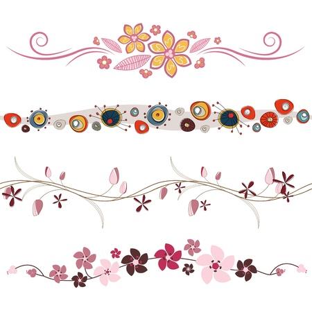 floral design elements Stock Vector - 9196364