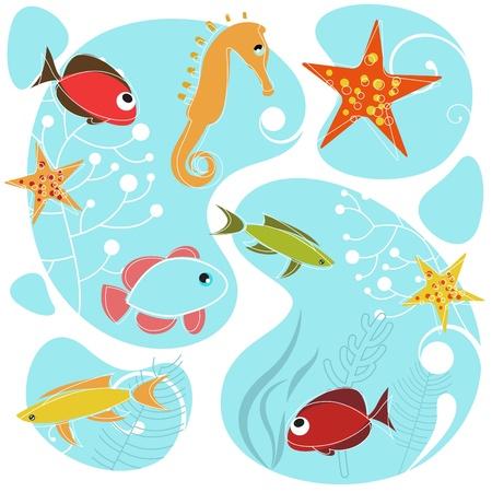 sea life design Vector Illustratie
