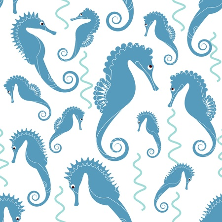 sea horse pattern Vector