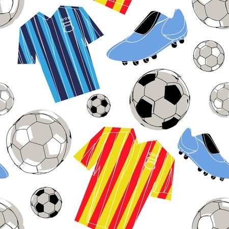 sports form: seamless pattern di calcio