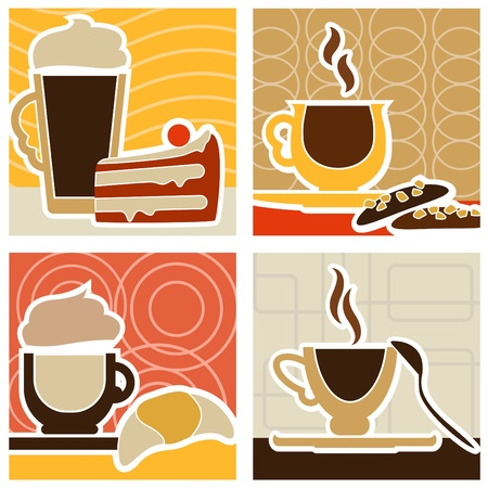 coffee and sweet design  Stock Vector - 9196309