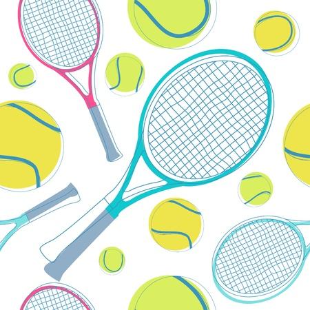 tennis seamless pattern  Vector