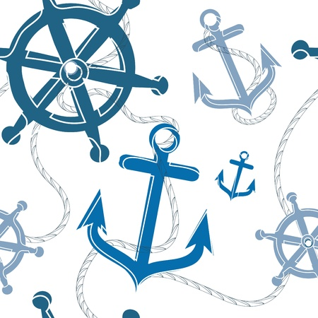nautical seamless pattern  Stock Vector - 9196322